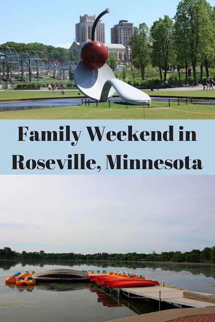Family Weekend exploring Roseville, Minnesota near Minneapolis and St. Paul