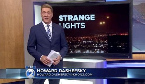 """Canal de TV Noticia: Luzes estranhas capturadas flutuando sobre Oahu Havaí """"Estão Chegando"""""""