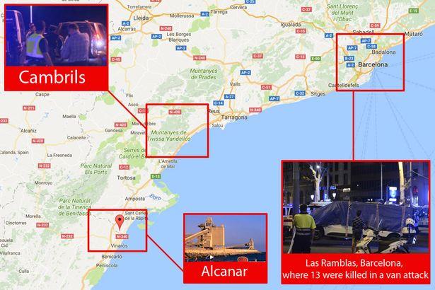 Alcanar Spain Map.Twilight Language Maps Of Terror August 13 18 2017