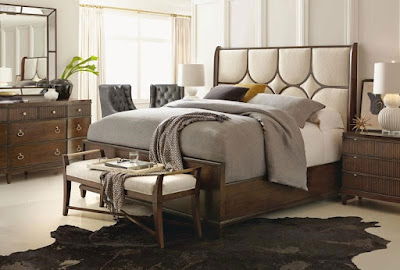 Beverly Glen King Upholstered Panel Bed by Bernhardt