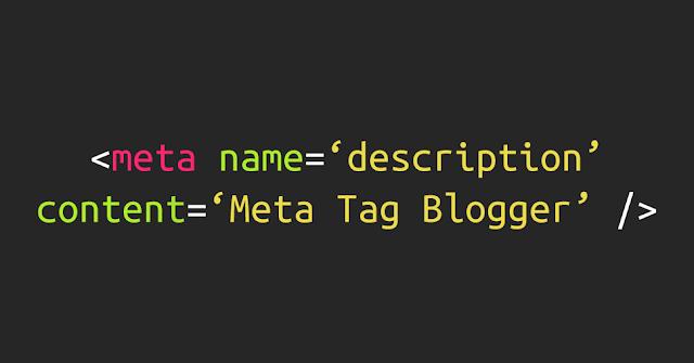 Meta Tag pada Blogger
