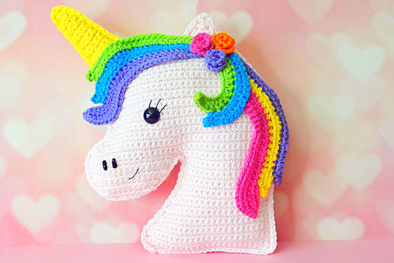 unicorm Kawaii Pillow Cuddler Crochet Pattern