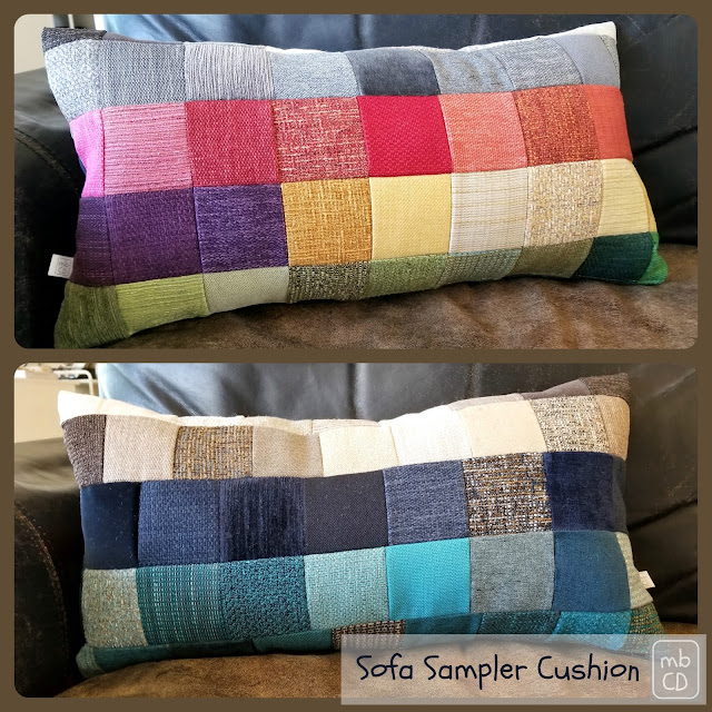 Sofa Sampler Cushion by www.madebyChrissieD.com