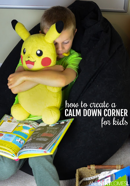Tips for creating a calm down corner for your kids from And Next Comes L