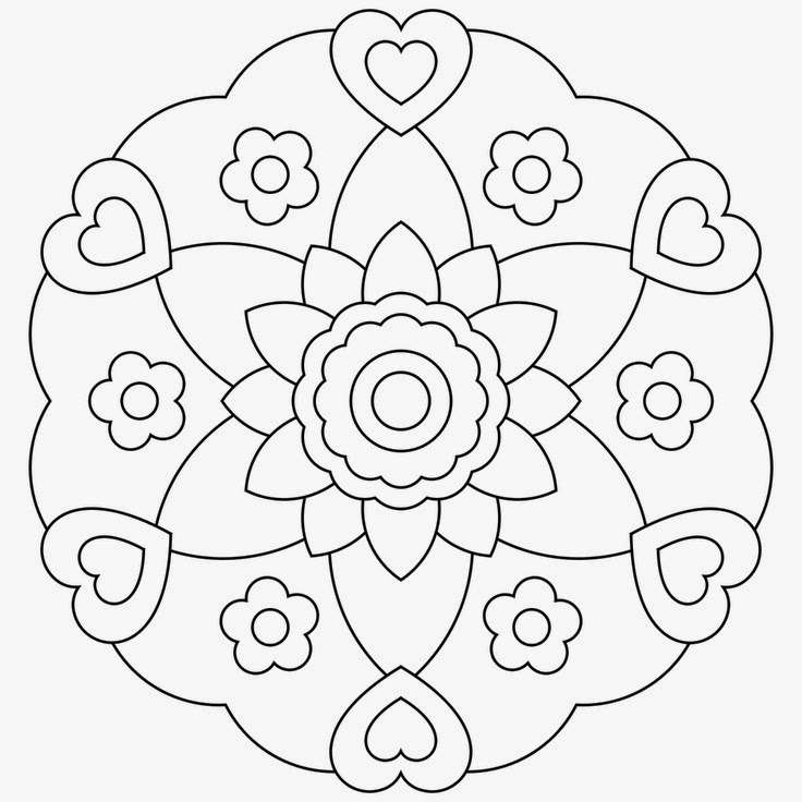 Mother and child bird mandala to color AND a video Mandala