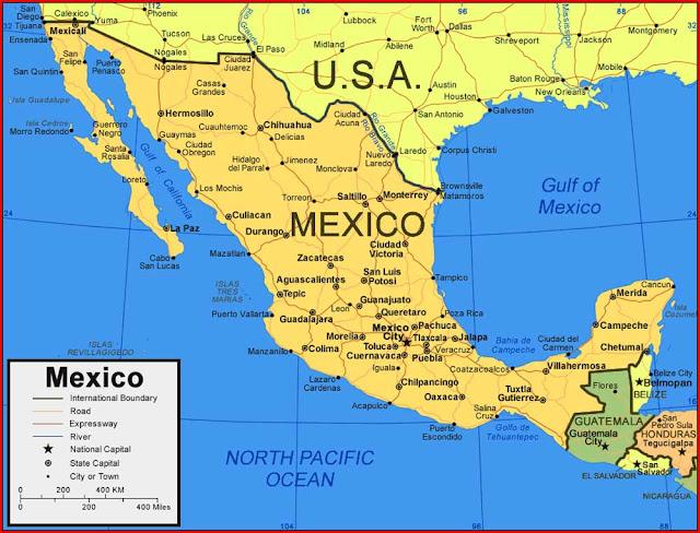 Gambar Peta Meksiko