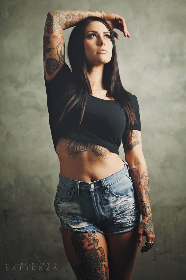 Jessica Pridham | Sexy Tattooed Girls | Female Models With Tattoos
