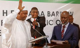 Swelling in Adama Gambia President