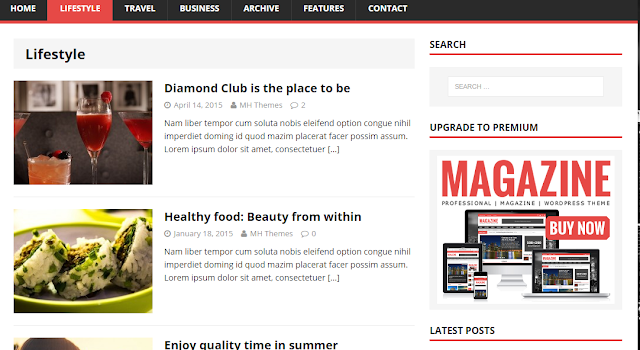 MH Magazine Lite Wordpress Theme Free Download