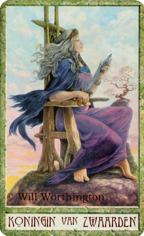 Druidcraft Tarot Queen of Swords  Will Worthington
