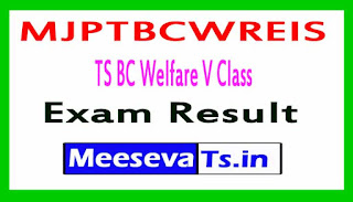 MJPTBCWREIS TS BC Welfare V Class Admission Test Results 2018