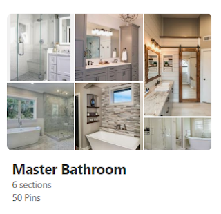 Harvey Ever After Master Bath Pinterest Board