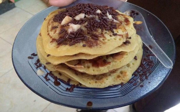 Resep pancake susu kental manis