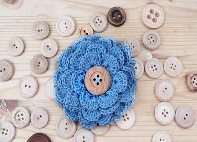 Botones tejidos a crochet para prendas de punto
