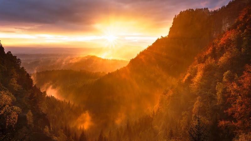 Landscape seen at Sunset