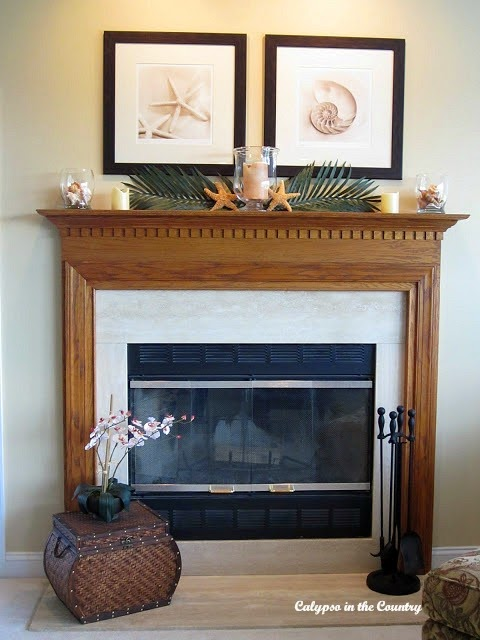Builder Grade Oak Fireplace Mantel