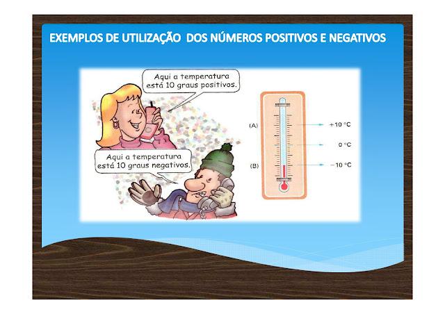 Números Positivos e Negativos