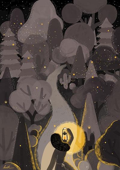 2 Light will guides you home por Kathrin Honesta