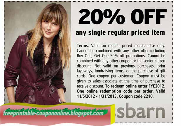 photograph about Dress Barn Coupon Printable identified as Printable Discount coupons 2019: Gown Barn Coupon codes