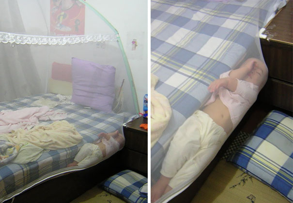 15+ Hilarious Pics That Prove Kids Can Sleep Anywhere - Napping On The Edge