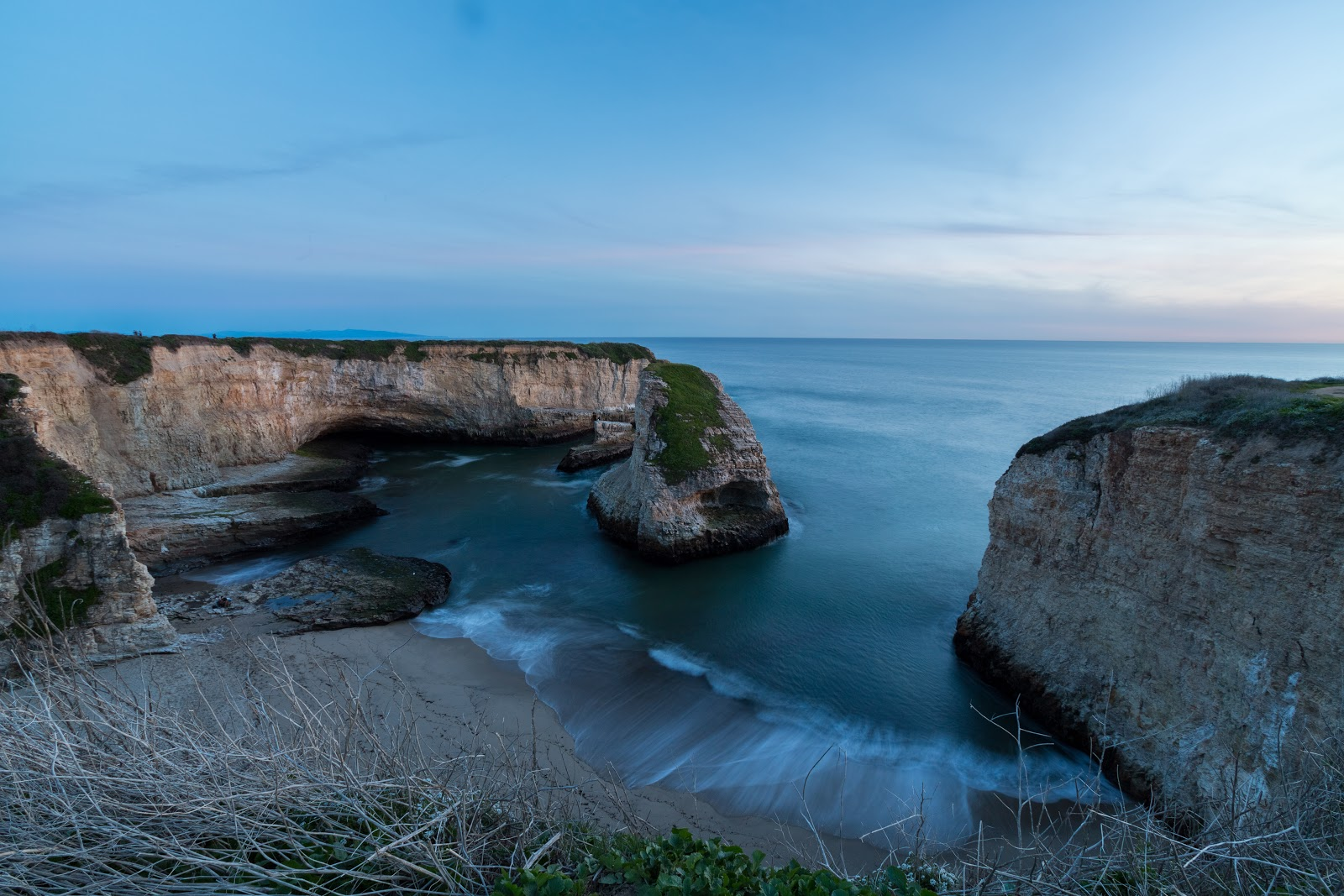 Long Exposure Sunset Photo From Shark Fin Cove