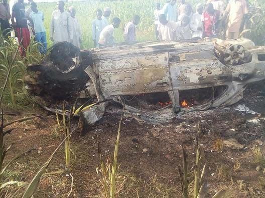 Driver burnt to death as car somersaults in Kawari, Katsina State