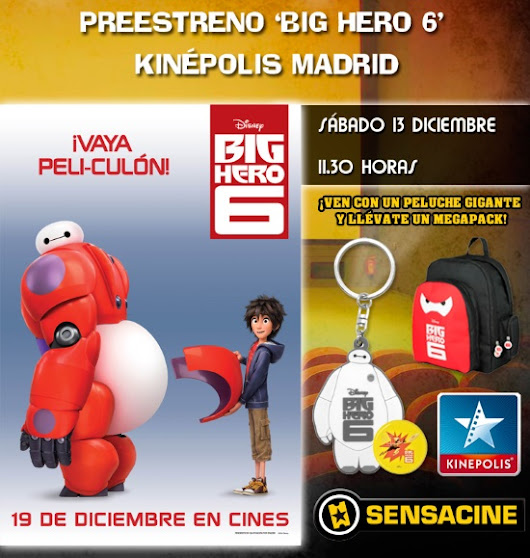 TE INVITAMOS AL PREESTRENO DE BIG HERO 6