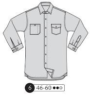 coser camisa hombre patrón costura masculina
