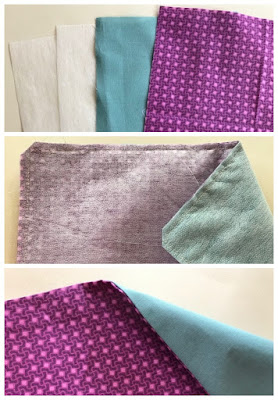 Sewing fabric pieces together to make a fabric tray