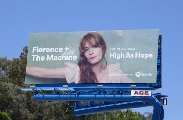 Florence Machine High as Hope Spotify billboard