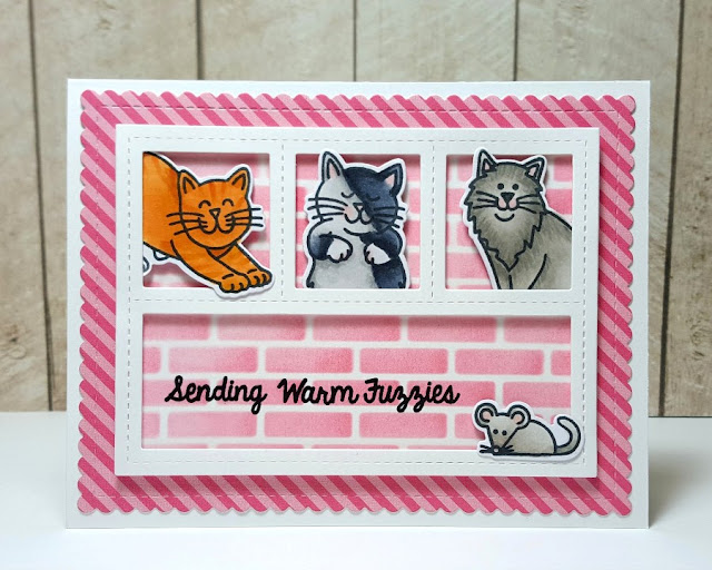 Sunny Studio Stamps: Furever Friends Cat Card by Heidi Criswell (@craftytime4u on instagram) created for MarkerPop.com