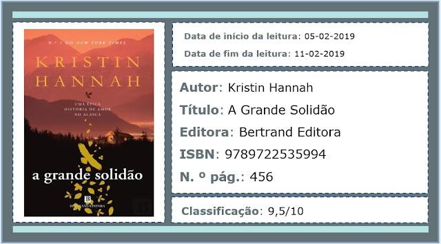 Eu Descobri Que A Solidão é O Grande Lua: A Biblioteca Da João: Opinião... Kristin Hannah * A Grande