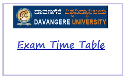 Davangere University Time Table May June 2020