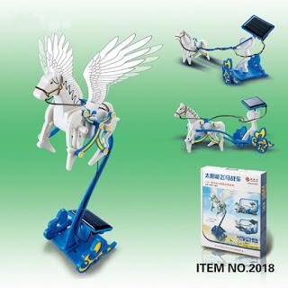 Solar Stallion 3 in 1 Horse Pegasus robot diy kuda terbang - IA025