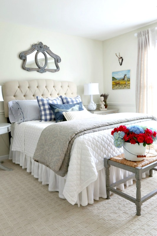 Savvy Southern Style Blue And White Guestroom