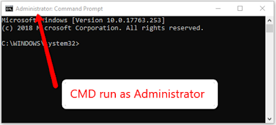 CMD run as Administrator in WMIC Uninstall
