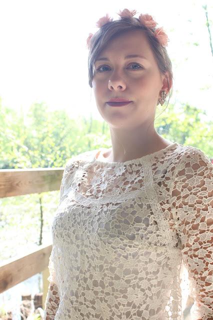 blouse dentelle blanche promod