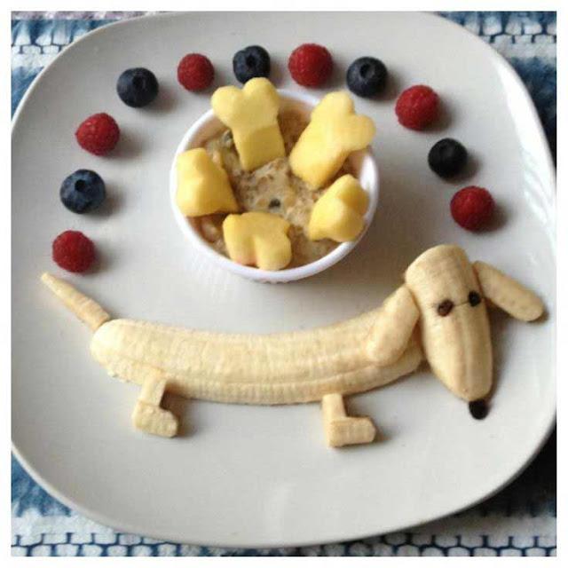 как красиво подать банан