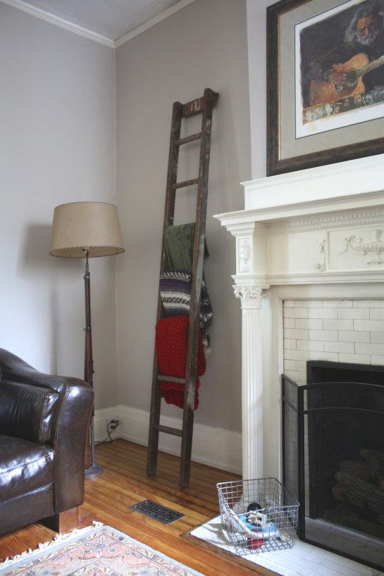 Ladder Blanket Storage