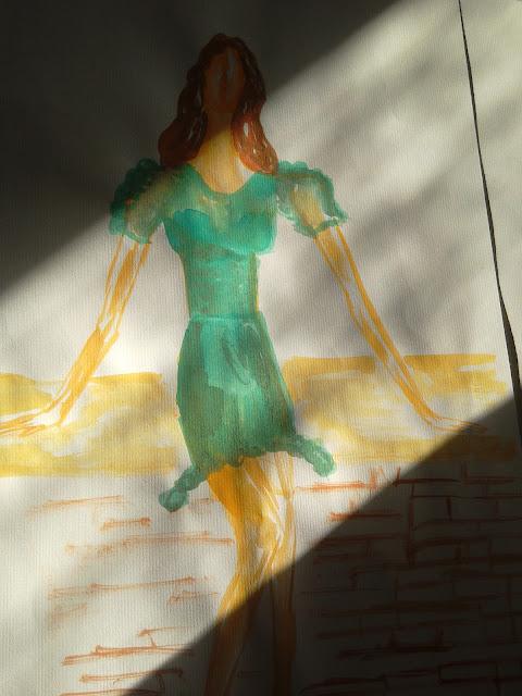 Fashion illustration by Ivana modaodaradosti #akvarel