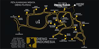 Peta kawasan wisata Dieng