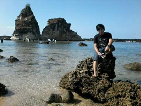 Panorama Pantai Sawarna Lebak Banten