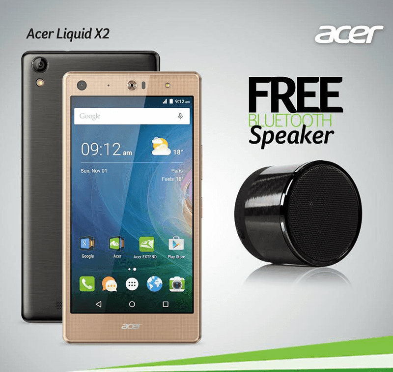 Acer Liquid X2 With Free Bluetooth Speakers!