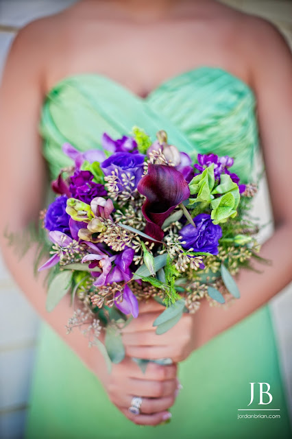 Purple & Green Wedding Delight by Stein Your Florist Co. Bridesmaid Bouquet