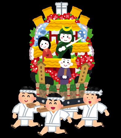 博多祇園山笠のイラスト