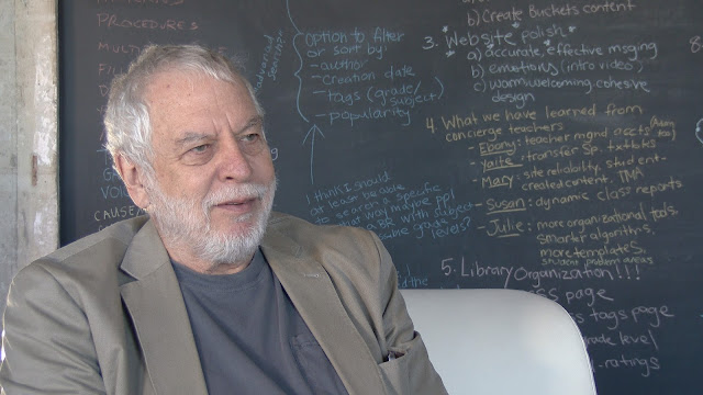 Screen capture from World 1-1 documentary of Nolan Bushnell, co-founder of Atari