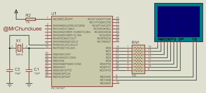 CCS PIC: Contador de 0 a 99 con display de 7 segmentos