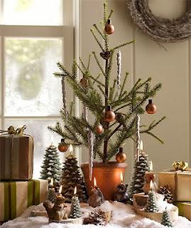 decoración pequeño árbol