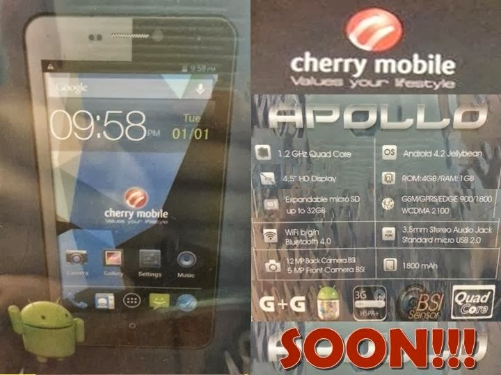 Cherry Mobile Apollo HD display and Quad core Processor