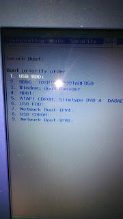 Acer ES1-432 Bios secure boot